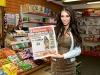 Stunning Model Georgia Salpa picked up a copy of the Monaghan Democrat from Barry Carlans newsagents on O'Neill Street Carrickmacross when she was in town to help Vanity Nightclub Carrickmacross celebrate there first birthday.